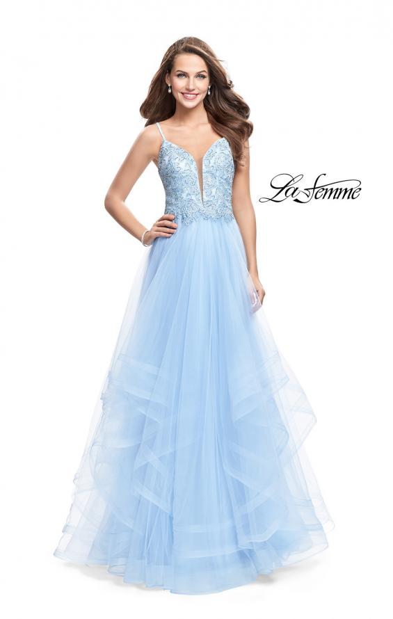 Picture of: Ball Gown with Tulle Skirt and Lace Beading, Style: 25762, Detail Picture 1