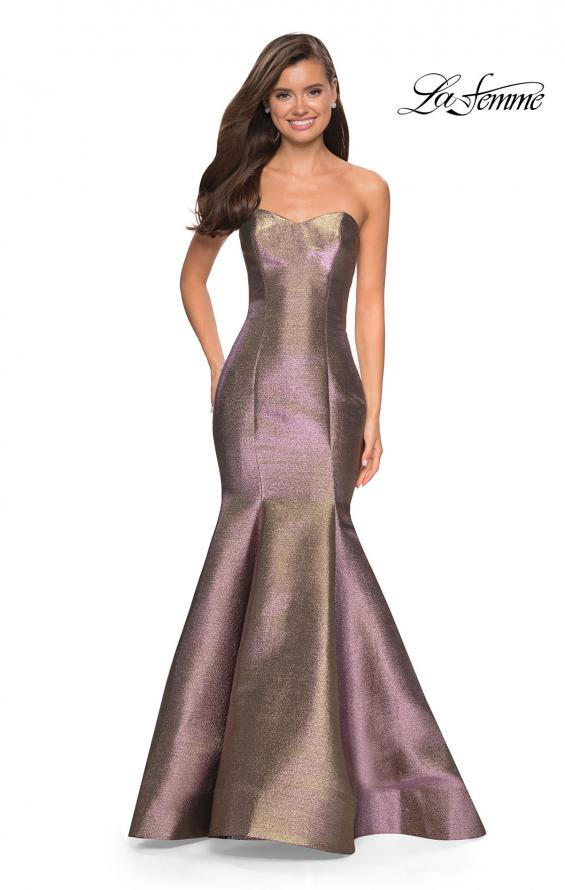 Picture of: Metallic Jersey Mermaid Strapless Prom Dress, Style: 27638, Main Picture