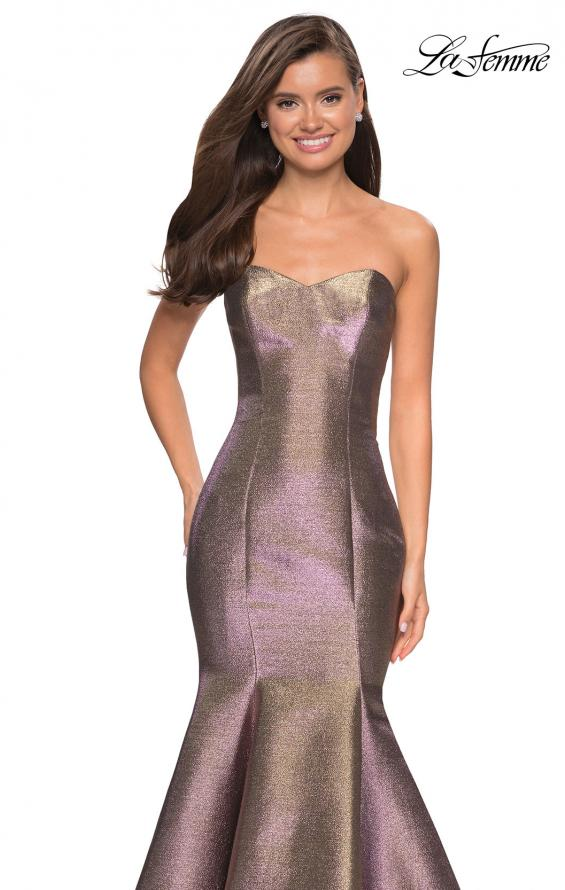 Picture of: Metallic Jersey Mermaid Strapless Prom Dress, Style: 27638, Detail Picture 1