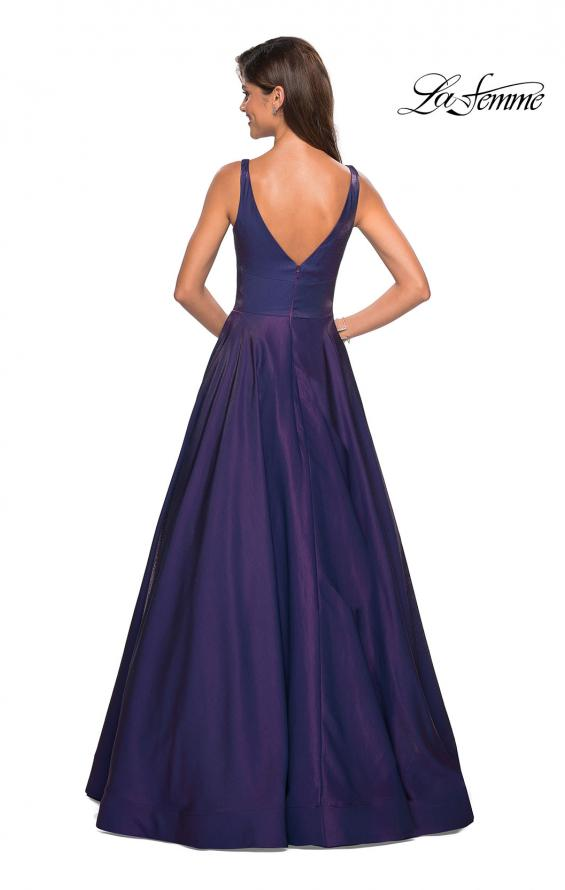 Picture of: Sweetheart Neckline Satin Long Prom Gown in Purple, Style: 27227, Back Picture