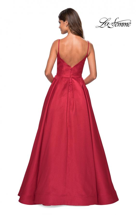 Picture of: Elegant Long Ball Gown with Empire Waist and V Back, Style: 27447, Back Picture
