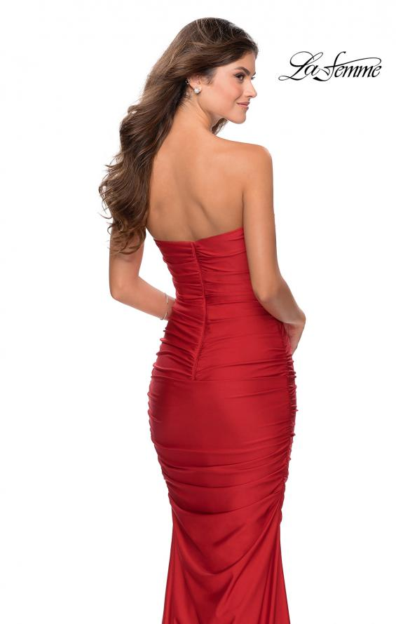 Picture of: Long Strapless Sweetheart Neckline Prom Dress in Red, Style: 28324, Back Picture