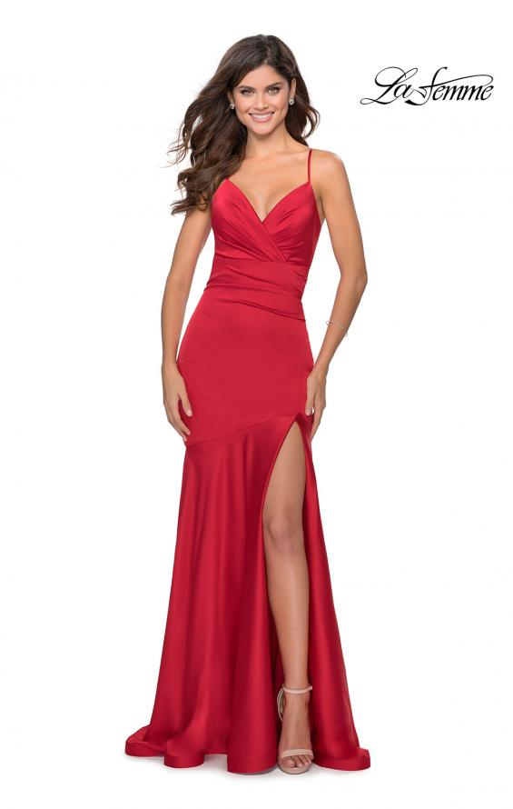 Picture of: Prom Dress with Ruching and Sweetheart Neckline in Red, Style: 28720, Detail Picture 1