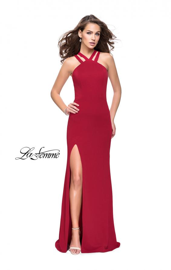 Picture of: High Neck Prom Dress with Halter Double Strap Detail, Style: 25883, Detail Picture 4