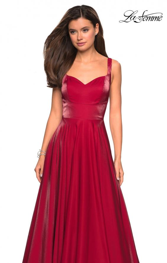 Picture of: Sweetheart Neckline Satin Long Prom Gown in Red, Style: 27227, Detail Picture 5