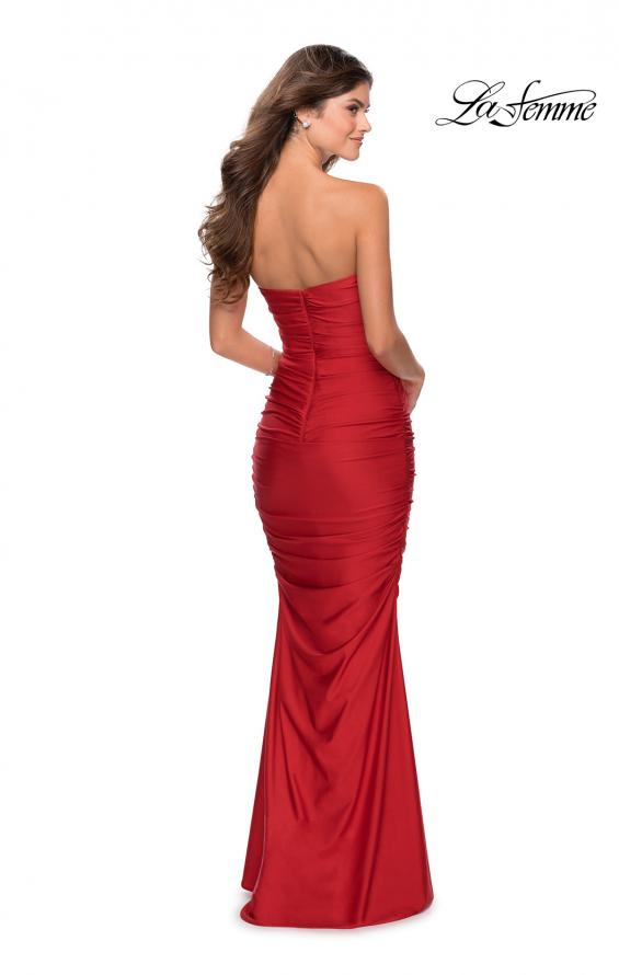 Picture of: Long Strapless Sweetheart Neckline Prom Dress in Red, Style: 28324, Detail Picture 5