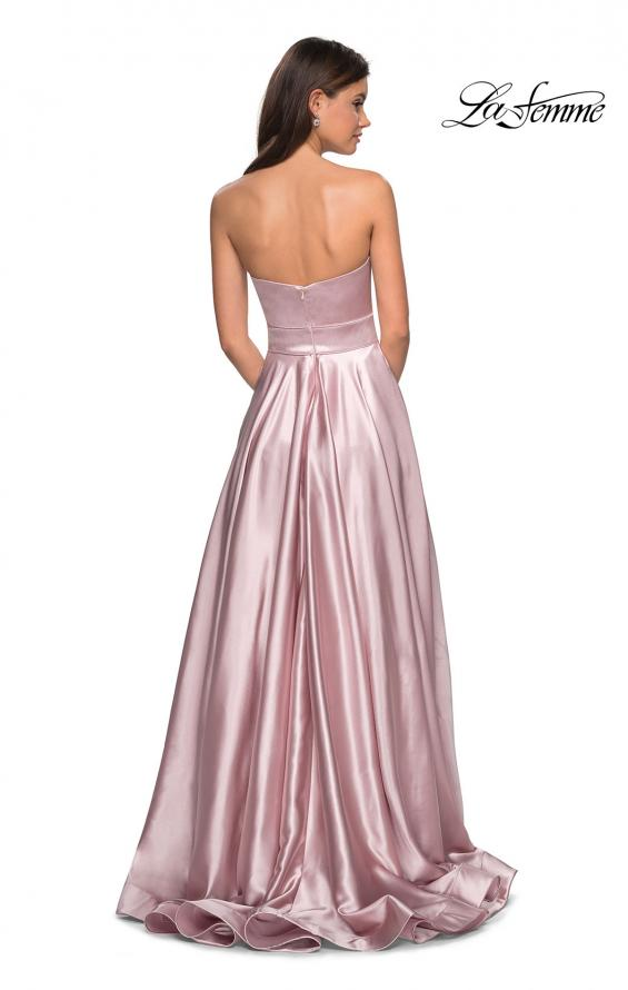 Picture of: Strapless Metallic Prom Gown with Empire Waist in Rose Gold, Style: 27506, Detail Picture 3