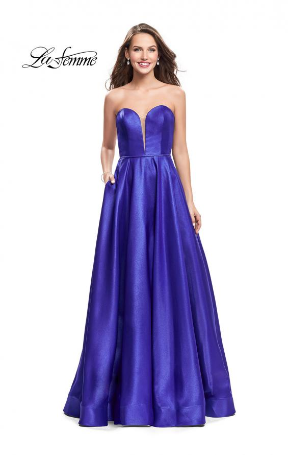 Picture of: Strapless Mikado A-line Gown with Pockets, Style: 26088, Main Picture