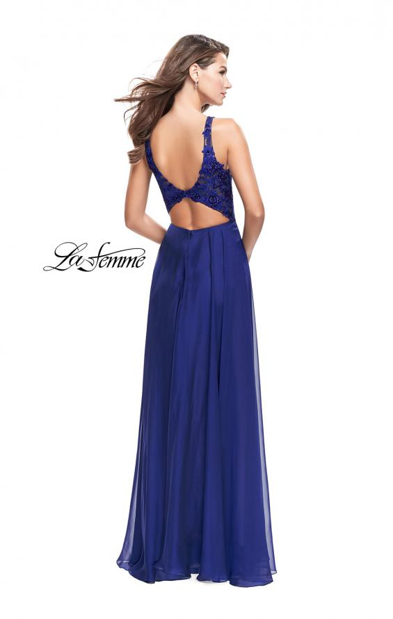 Picture of: A-line Prom Gown with Chiffon Skirt and Lace, Style: 26061, Back Picture