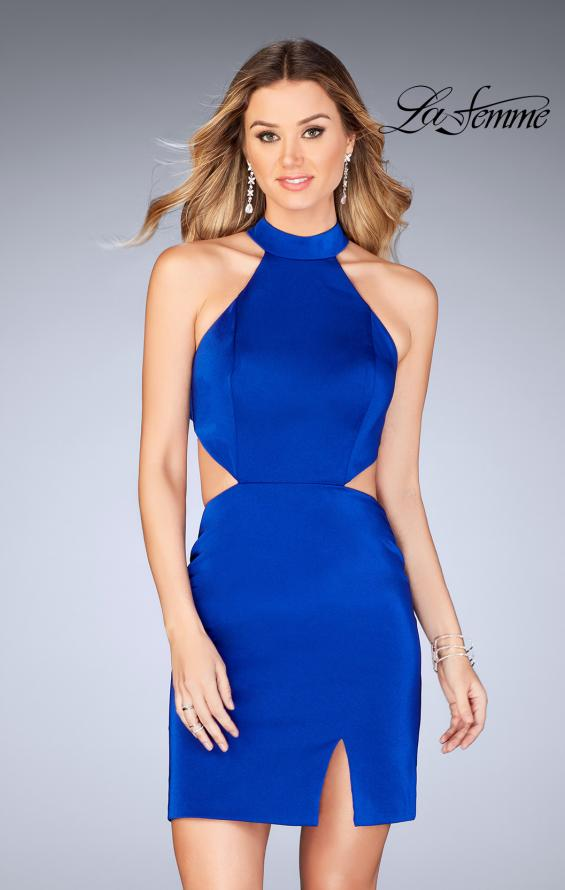 Picture of: Halter Top Short Dress with Strappy Back and Cut Outs, Style: 25197, Main Picture