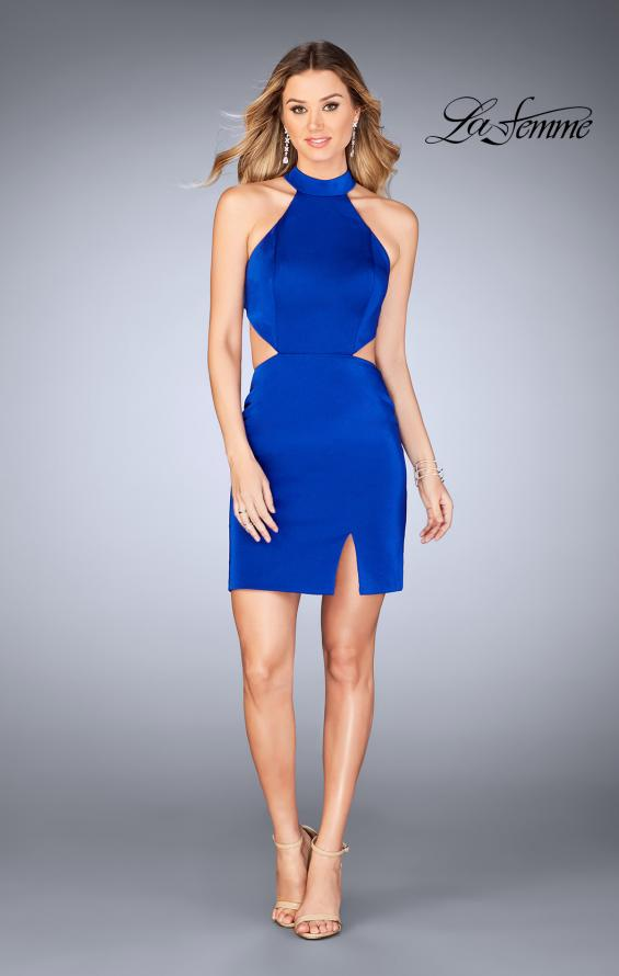 Picture of: Halter Top Short Dress with Strappy Back and Cut Outs, Style: 25197, Detail Picture 1