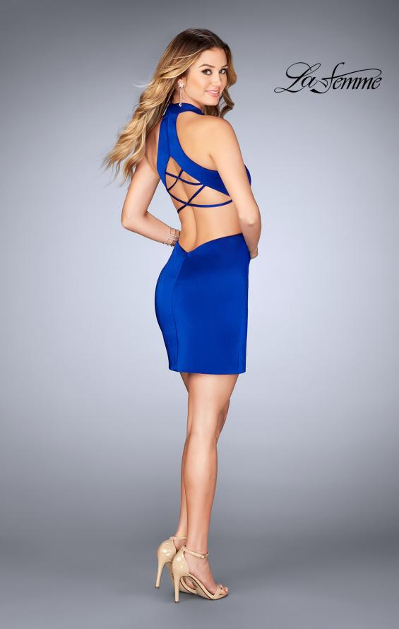 Picture of: Halter Top Short Dress with Strappy Back and Cut Outs, Style: 25197, Detail Picture 2