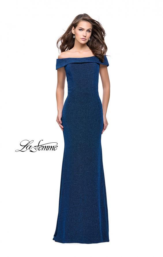 Picture of: Long Off the Shoulder Prom Dress with Flare Bottom, Style: 25444, Detail Picture 2