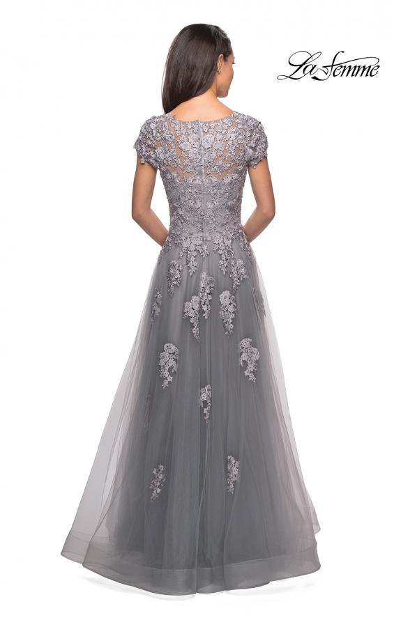 Picture of: Long Tulle Gown with Intricate Lace Detailing, Style: 26907, Detail Picture 2