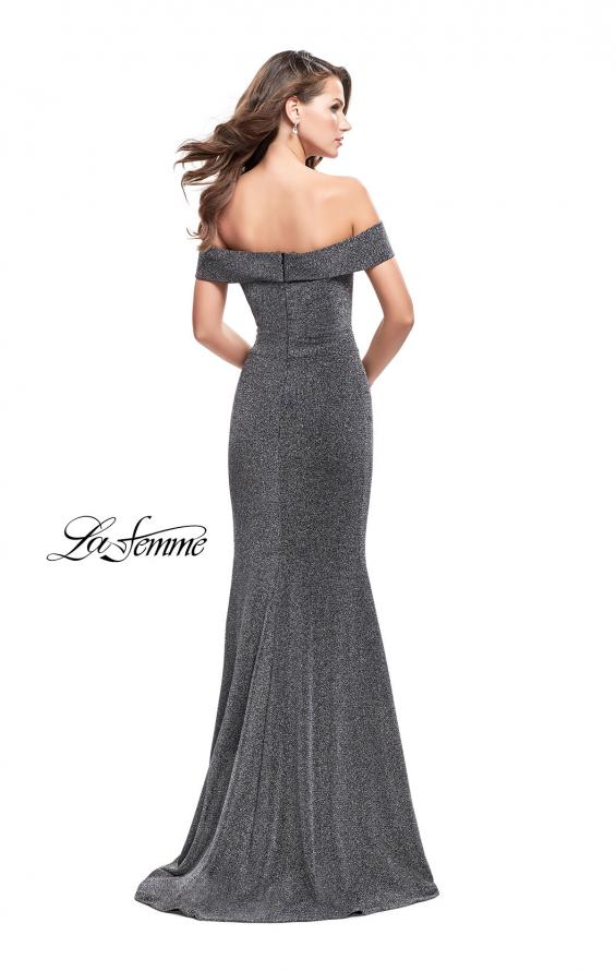 Picture of: Long Off the Shoulder Prom Dress with Flare Bottom, Style: 25444, Back Picture