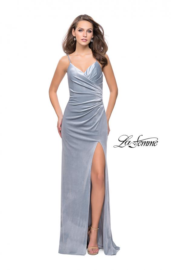 Picture of: Velvet Prom Dress with Strappy Back and Small Train, Style: 25184, Detail Picture 2