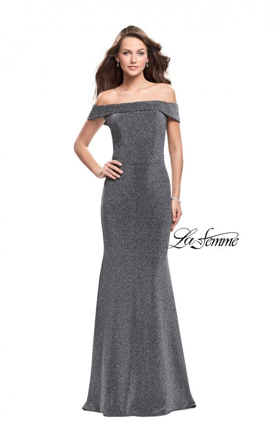 Picture of: Long Off the Shoulder Prom Dress with Flare Bottom, Style: 25444, Detail Picture 3