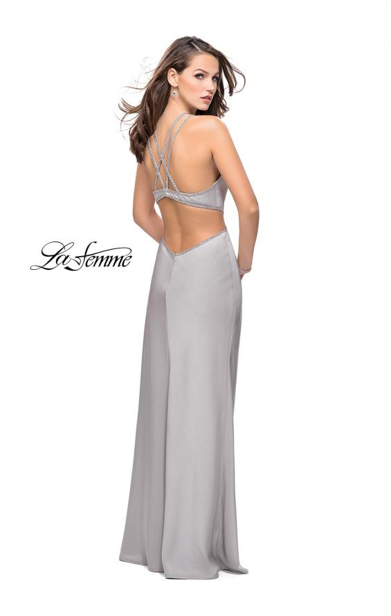 Picture of: Form Fitting Gown with Metallic Embellishments and Slit, Style: 25508, Detail Picture 4