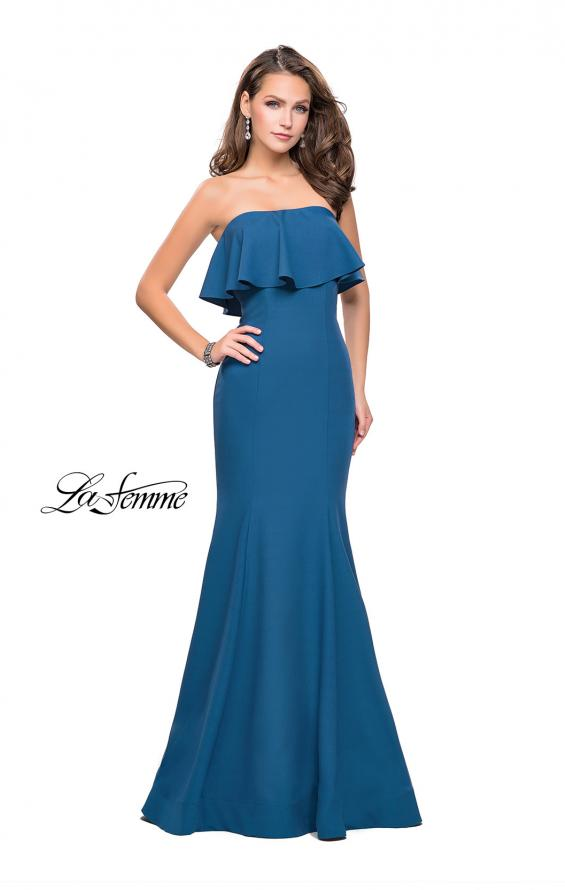 Picture of: Strapless Mermaid Prom Dress with Ruffles, Style: 25419, Detail Picture 1
