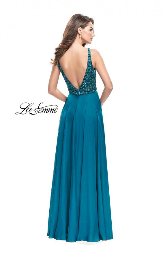 Picture of: A-Line Prom Gown with Chiffon Skirt and Beaded Bodice, Style: 26053, Main Picture