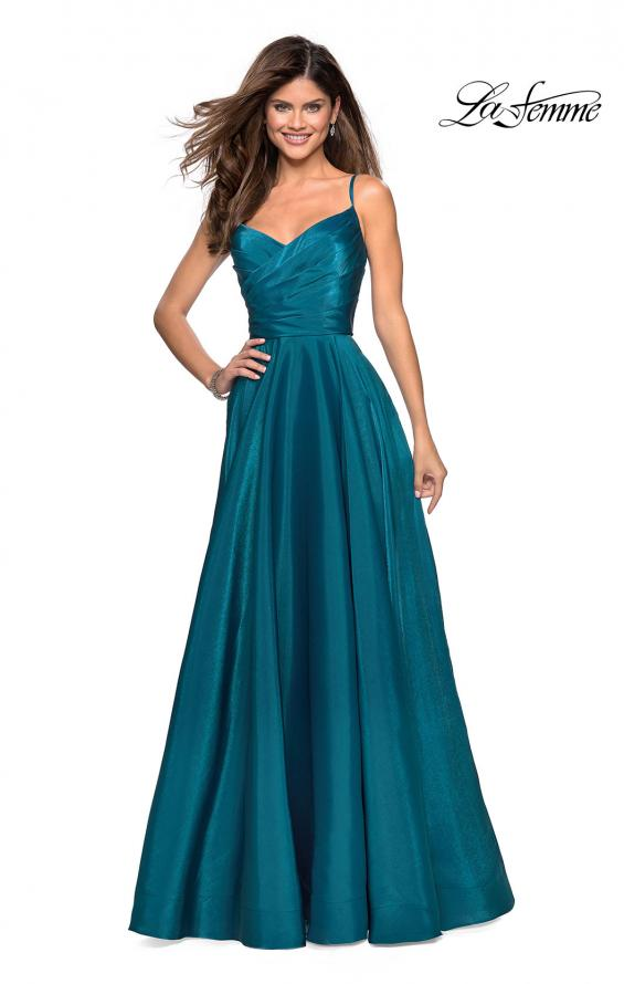 Picture of: Long Satin Simple Prom Dress with Empire Waist, Style: 27226, Main Picture
