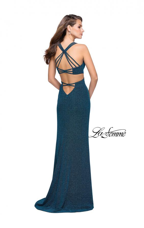 Picture of: Sparkly Jersey Dress with Side Cut Outs and Strappy Back, Style: 25258, Detail Picture 3