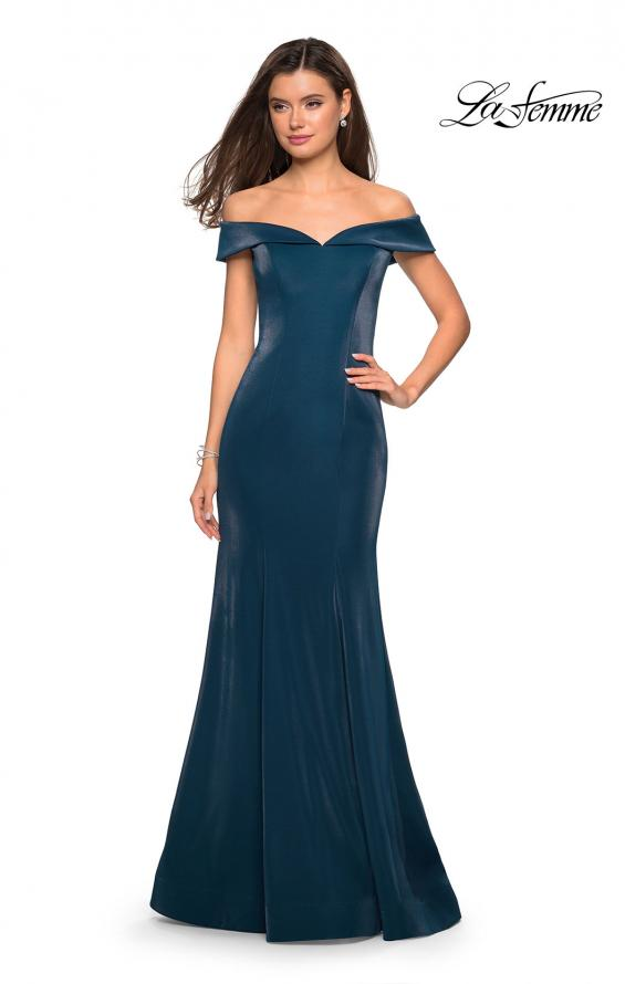 Picture of: Off The Shoulder Long Jersey Prom Dress, Style: 27176, Detail Picture 4