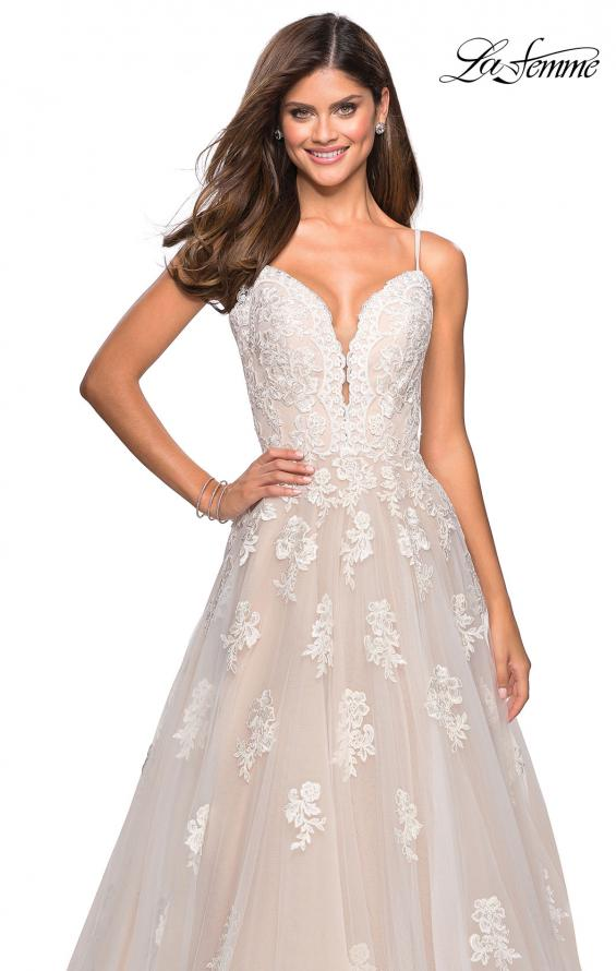 Picture of: Classic Prom Ball Gown with Lace Applique Details, Style: 27463, Main Picture