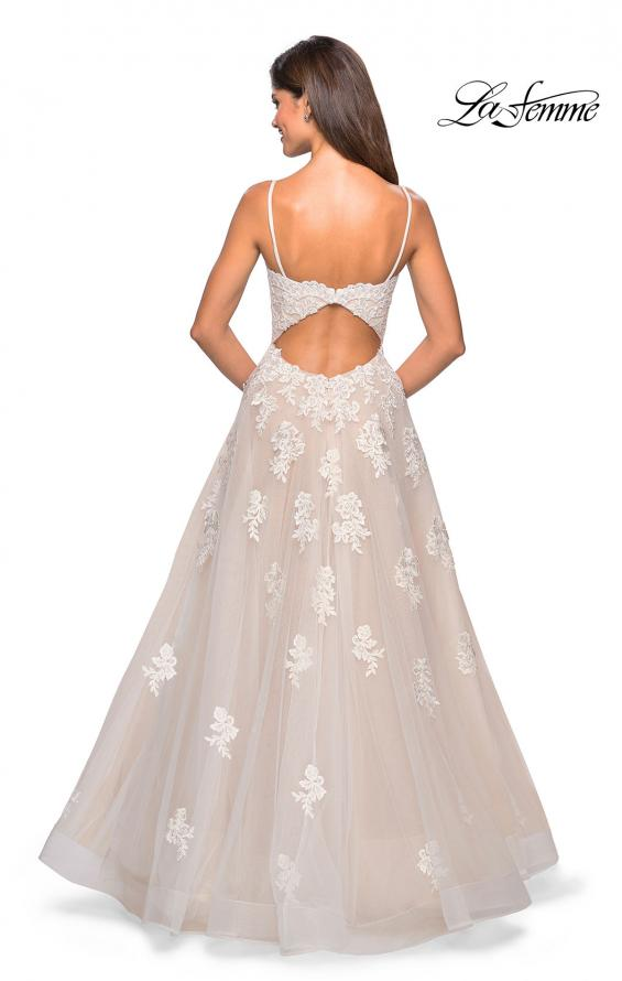 Picture of: Classic Prom Ball Gown with Lace Applique Details, Style: 27463, Back Picture