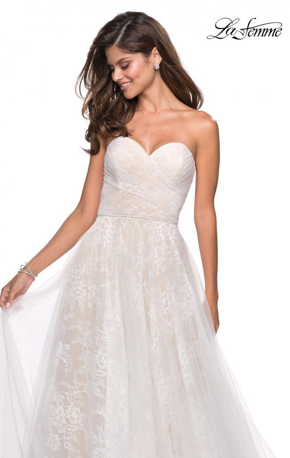 Picture of: Strapless Lace Ball Gown with Sweetheart Neckline in White Nude, Style: 27135, Detail Picture 6