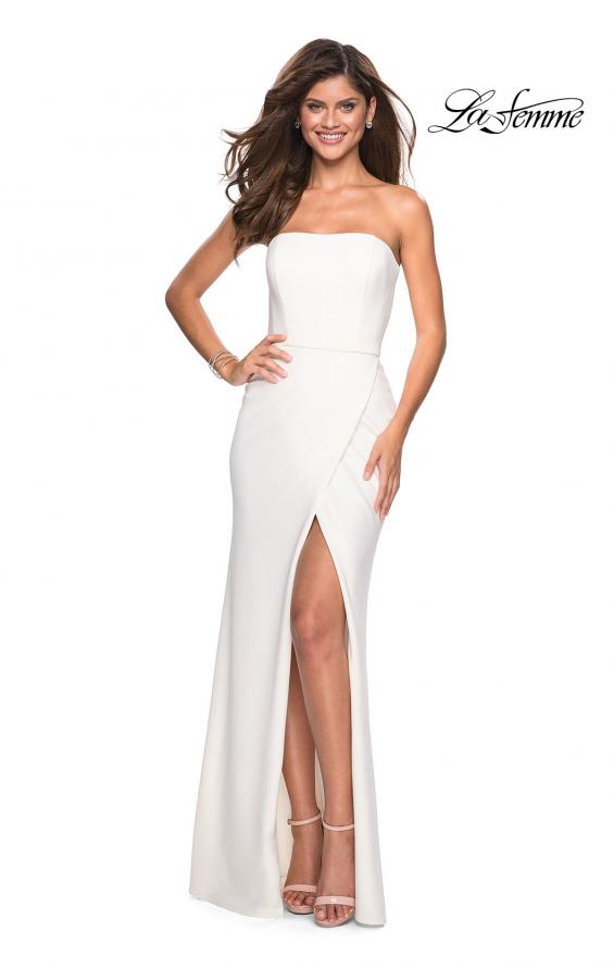 Picture of: Simple Strapless Prom Dress with Double Strap Back in White, Style: 27035, Main Picture