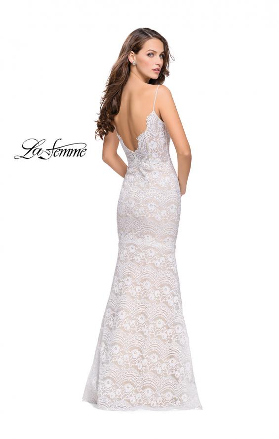 Picture of: Beaded Lace Prom Dress with Mermaid Skirt, Style: 26106, Back Picture