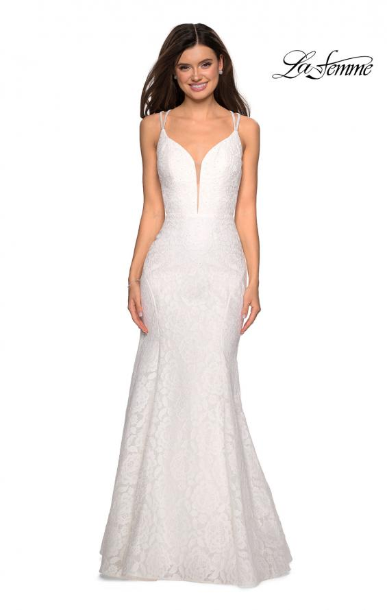 Picture of: Mermaid Style Lace Dress with Strappy Open Back, Style: 27560, Detail Picture 2