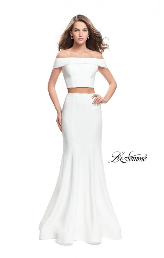 Picture of: Form Fitting Off the Shoulder Jersey Mermaid Dress, Style: 25578, Detail Picture 3