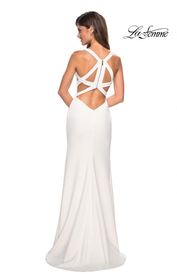 Picture of: Long Jersey Prom Dress With Exposed Back Zipper, Style: 27031, Detail Picture 4