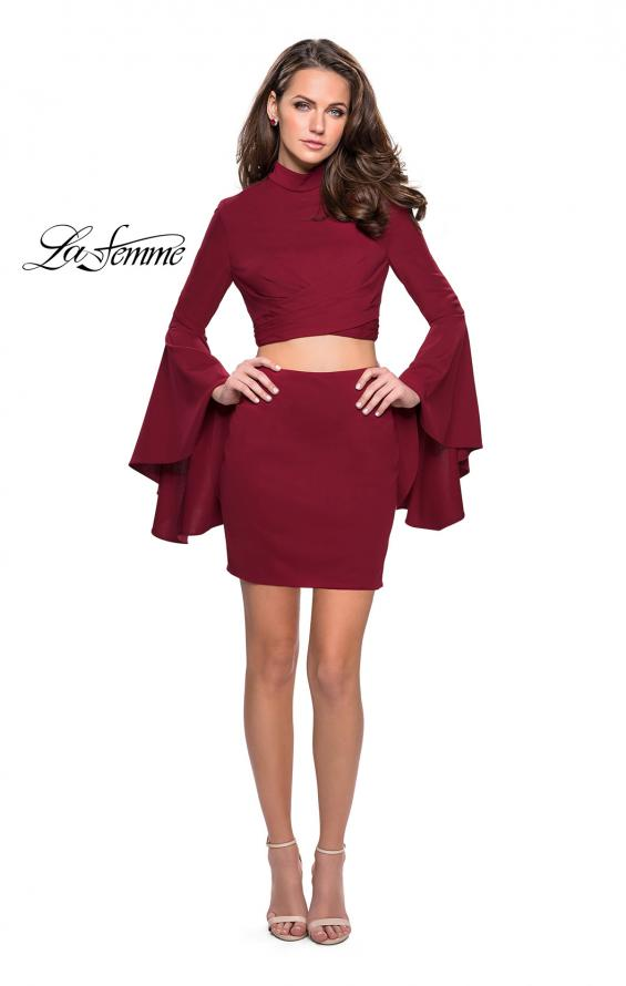 Picture of: Two Piece Bell Sleeve Jersey Dress with Open Back, Style: 26621, Detail Picture 4