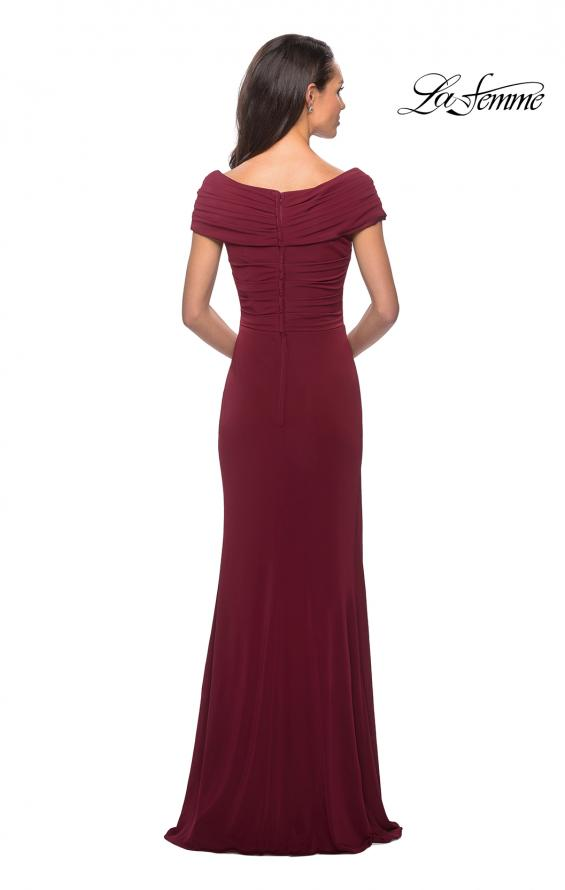Picture of: Ruched Jersey Long Gown with V-Neckline, Style: 26519, Detail Picture 4