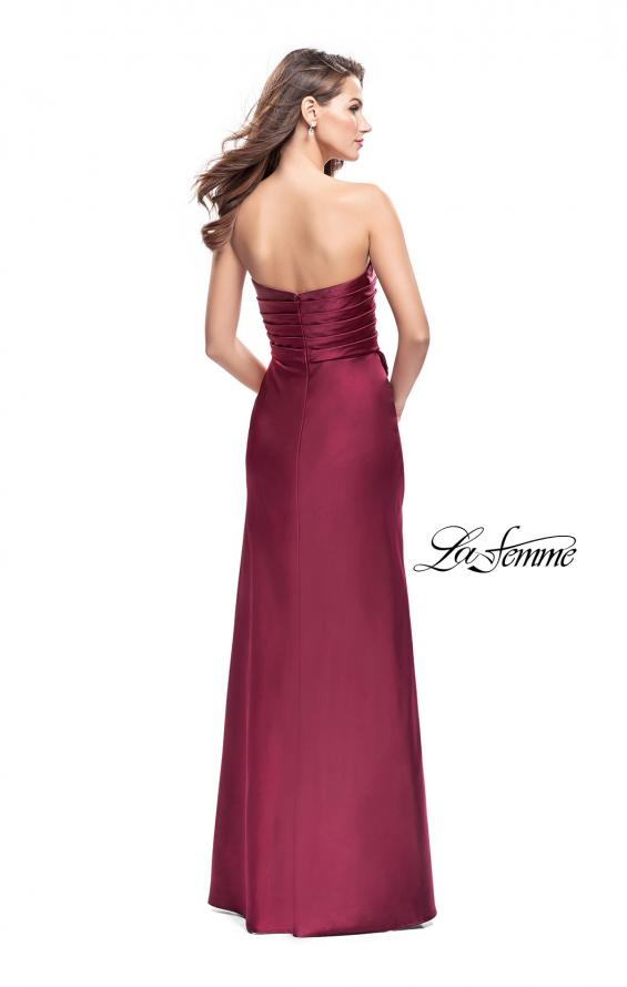 Picture of: Long Strapless Satin Prom Dress with Side Ruching, Style: 26017, Detail Picture 3