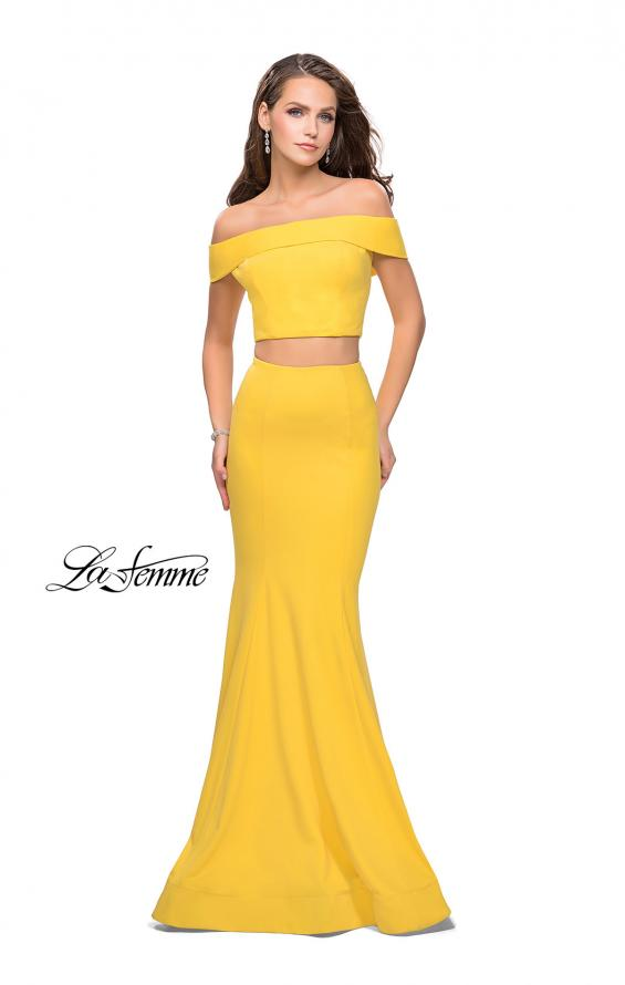 Picture of: Form Fitting Off the Shoulder Jersey Mermaid Dress, Style: 25578, Detail Picture 6