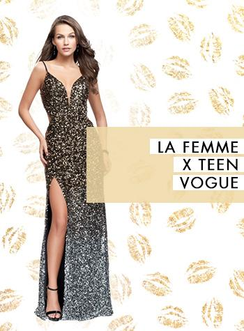 La Femme and Teen Vogue for Prom Dresses 2018 Trends