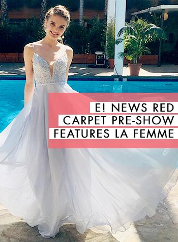 Oscars Red Carpet Pre Show on E! Features La Femme Dresses