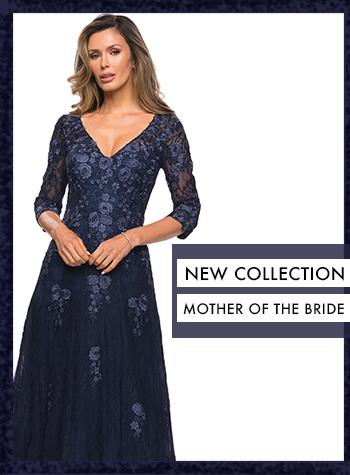 Navy Lace Mother of the Bride Dress