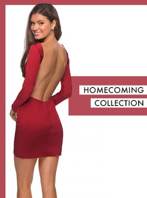 red homecoming dresses and short dress trends