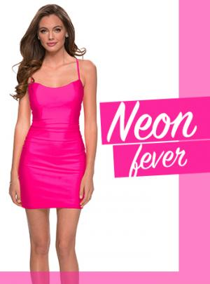 Picture of: Neon Short Homecoming Dresses