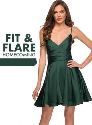 Picture of: Fit and Flare Homecoming Dresses