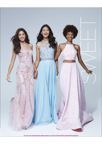 La Femme Style 24101 (right) As Seen In Seventeen Prom Edition 2017, Pg 81
