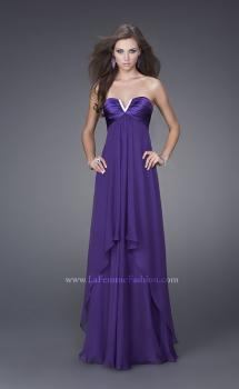 Picture of: Crystal V Neckline Strapless Long Prom Dress in Purple, Style: 15085, Main Picture