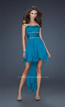 Picture of: High Low Prom Dress with Corset Bodice and Beading, Style: 15087, Main Picture