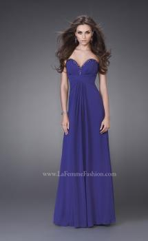 Picture of: Strapless Gown with Beading and Pleated Skirt in Navy, Style: 15126, Main Picture