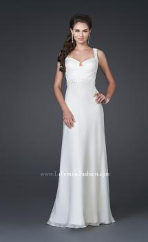 Picture of: Elegant Satin Gown with Corset Top and Beaded Waist, Style: 15283, Main Picture